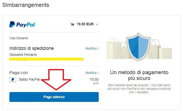 Paga adesso conto Paypal